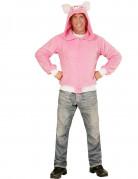 Rosafarbene Schweinchenjacke für Erwachsene