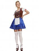 Bayerisches Kellnerin-Kostüm für Frauen in Blau