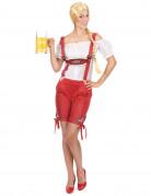 Kostüm als Tirolerin mit roten Shorts für Frauen