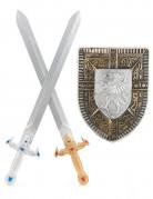 Ritter-Set mit 2 Schwertern & Schild für Kinder