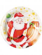 8 Weihnachtsmann Teller