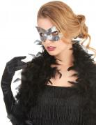 Venezianische Maske mit silbernen Pailletten für Erwachsene