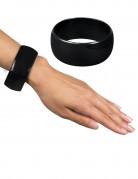 Schwarzes und breites Armband für Damen