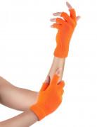 Halbhandschuhe in Neon-Orange für Erwachsene