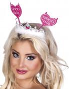 Herzchen-Tiara im Teufelchen-Look für Frauen