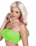Neongrünes Bandeau-Top für Damen