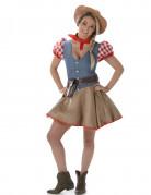 Süßes Cowgirl-Damenkostüm Western bunt