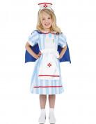 Krankenschwester-Kostüm für Mädchen weiss-blau-rot