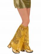 Goldene Pailletten-Stulpen für Erwachsene