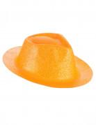 Glitzernder Hut für Erwachsene orangefarben