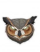 Eulen-Maske Tier-Accessoire grau-braun-weiss