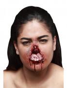 Unechte Oberlippenverletzung für Erwachsene Halloween