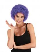 Afro-Perücke Clown violett für Erwachsene