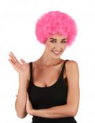 Afro-Perücke Clown rosa für Erwachsene