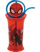 Spiderman™ Glass mit Strohhalm