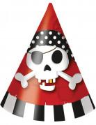 6 Partyhüte - Pirat
