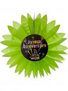 Papierdekoration zum Geburtstag mit Feuerwerkmotiv grün 50 cm