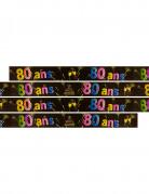 Banner zum 80. Geburtstag mit Feuerwerk-Motiv 3,60 Meter