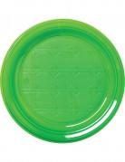 30 Plastikteller - grün