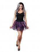 Tutu violett mit Nachttieren für Damen Halloween