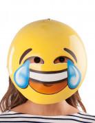 Smiley Maske für Erwachsene bunt 26x29cm