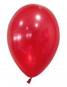 50 Metall-rotfarbende Luftballons