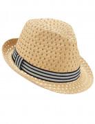 Sommerlicher Borsalino-Strohhut für Erwachsene beige