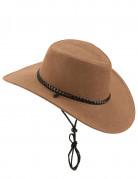 Cowboy-Hut aus Wildlederimitat