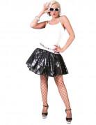 Disco Rock aus Pailletten für Damen schwarz