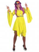 Hippie Kostüm für Damen gelb