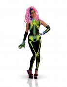 Fluoreszierendes Techno Girl Kostüm für Damen