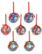 7 Mickey™-Weihnachtskugeln
