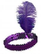 Charleston Pailletten-Stirnband mit Feder für Damen