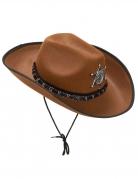 Hellbrauner Sheriff-Hut für Erwachsene