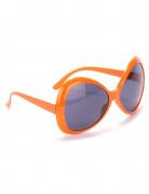Brille für Erwachsene in Orange mit getönten Gläsern