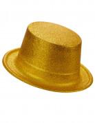Glitzernder Zylinder für Erwachsene gold