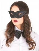 Glitzermaske für Damen schwarz
