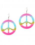 Peace Hippie-Ohrringe für Erwachsene