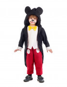 Maus Kostüm für Kinder Trickfilm schwarz-weiss-rot