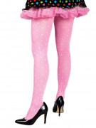 Rosa Strumpfhose mit weißen Punkten