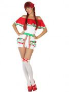 Mexikanerin Damenkostüm weiss-rot-grün