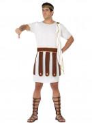 Römer-Herrenkostüm braun-weiss