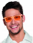 50er Jahre Party-Brille für Erwachsene orange