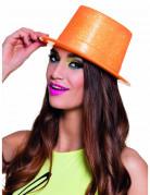 Glitzernder Party-Hut für Damen neonorange