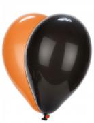 100 schwarze und orange Luftballons