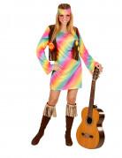Hippie Damenkostüm bunt