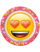 8 Pappteller Emoji™ 22cm