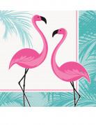 16 Flamingo Papierservietten rosa-türkis