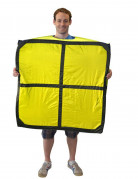 Tetris™ Kostüm Baustein O gelb für Erwachsene Morphosuits™