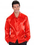 Hemd samtig rot für Herren